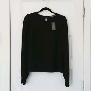 💕Suzy Shier Black Long Bishop Sleeves Shirt